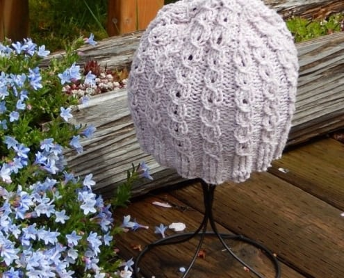 lavendar silk hat