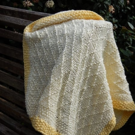 Double brocade baby blanket