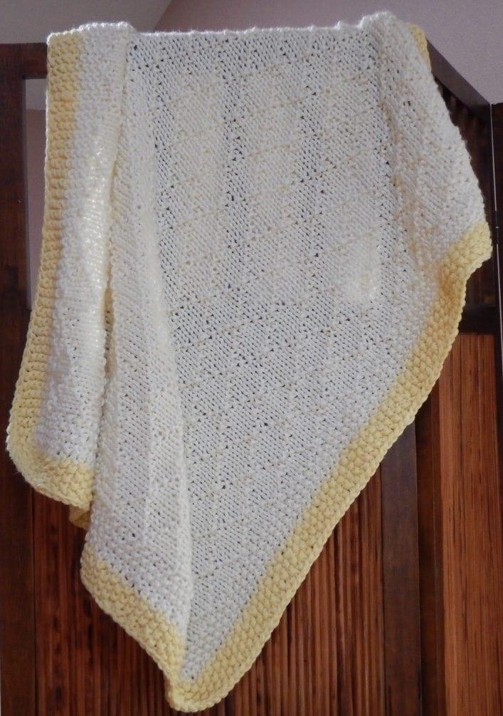 Double brocade baby blanket
