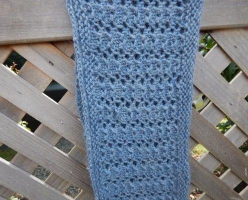 blue alpaca infinity scarf