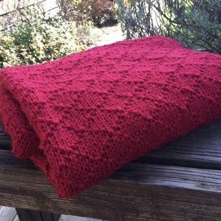 diamond brocade blanket