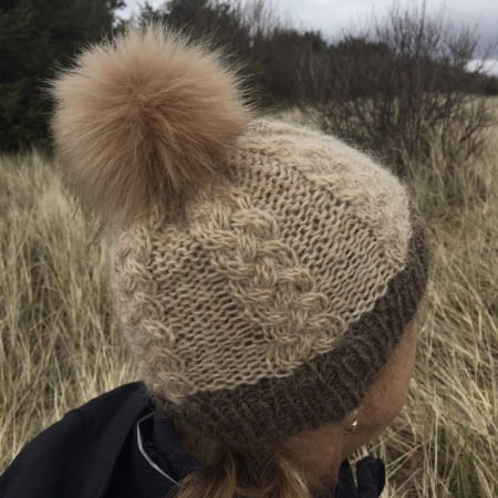 blue heron cable hat