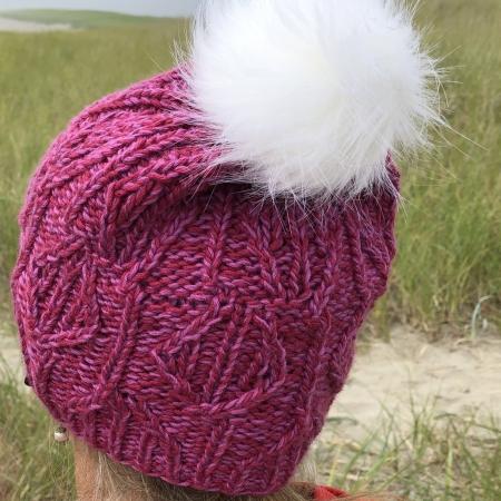 hand knit silk hat